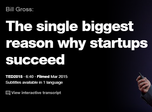 EDの英語プレゼンでリスニング The single biggest reason why startups succeed