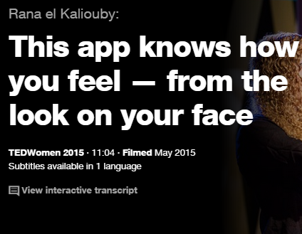 TEDの英語プレゼンでリスニング This app knows how you feel from the look on your face