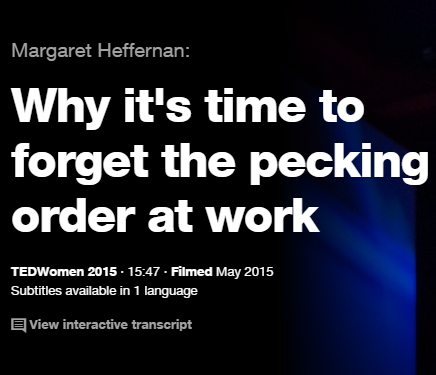 TEDの英語プレゼンでリスニング Why it's time to forget the pecking order at work