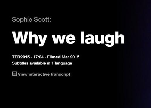 TEDTalksでリスニング力を鍛える:なぜ人は笑うのか