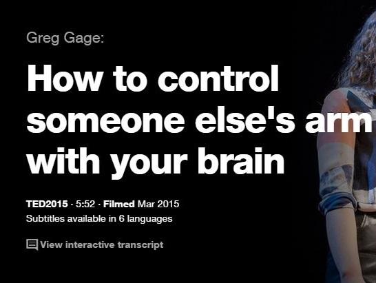 TEDの英語プレゼンでリスニングの勉強: あなたの脳で誰かの腕を動かす方法