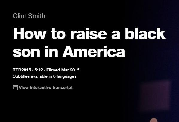 TEDので英語プレゼンでリスニングの勉強: アメリカでの黒人の息子の育て方