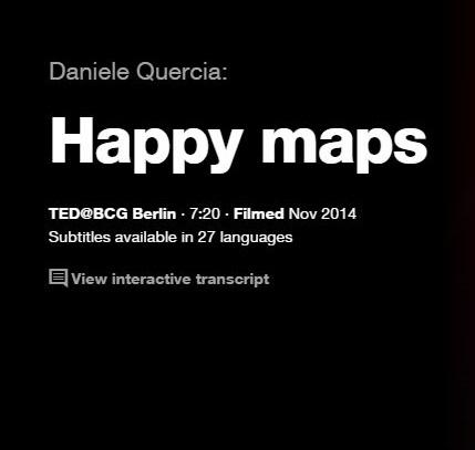 TEDの英語プレゼンでリスニングの勉強: 幸せな地図