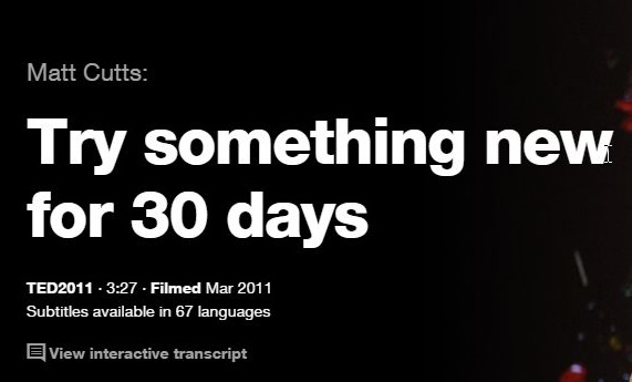 TTEDの英語プレゼンでリスニングの勉強:30日間新しいことに取り組んでみよう