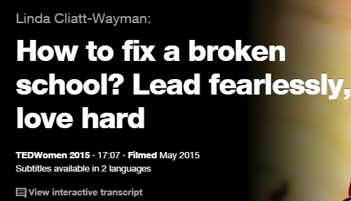 TEDの英語プレゼンでリスニング How to fix a broken school Lead fealessly, love hard
